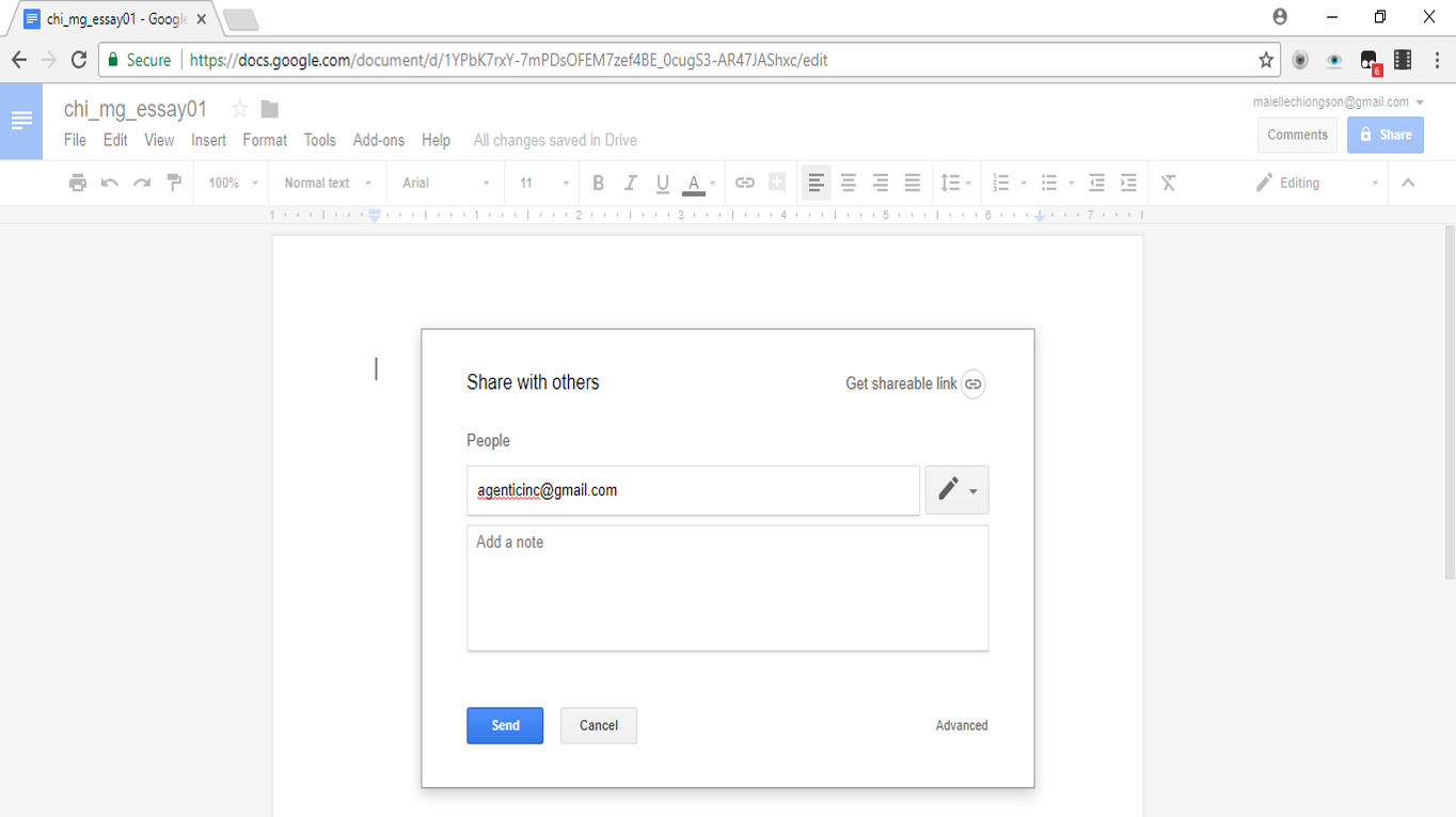 How to add your name to an essay in google docs
